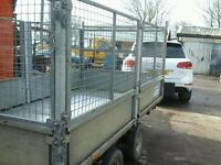 Ifor williams drop side trailer with mesh sides 10x5 no vat