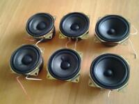 Six 8 cm Sony Chassis Speakers.