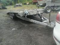 Brian james tri aixl trailer tilt bed 16x7 no vat ( like ifor williams)