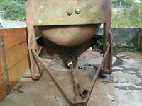 Cement mixers three point linkage