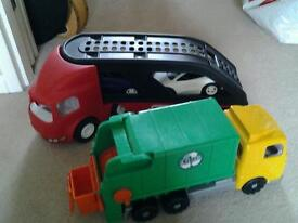 Tikes transporter and dustbin lorry