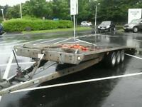 Brian james tilt bed tri aixl car tranporter trailer 16x7 no vat