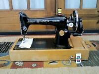 Singer Handcrank Sewing Machine (Serviced)
