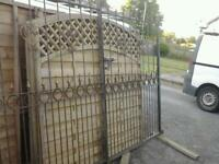 Double set of steel gates in great condition 3 meters wide by 2 meters high