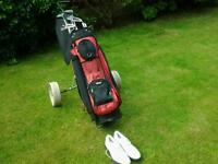 Golf trolley golf clubs and all accessories
