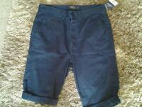 "Brand new wth tags mens shorts topman size 32"" waist rrp £30"