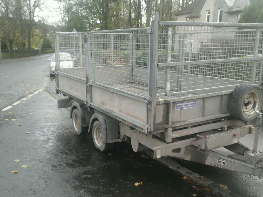 Ifor williams electric tipping trailer with mesh sides 12x6.6 no vat