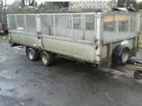 Graham Edwards trailer with mesh sides 16x6.6 no vat ( like ifor Williams )