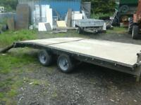 Ifor williams beaver tail trailer 14x6.6 with ramps no vat