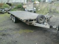 Ifor williams flat bed trailer 18x6.6 with alloy ramps no vat