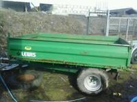 Lewis AA farm tipping trailer 7x4 no vat