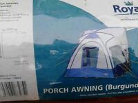 Caravan porch awning