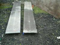 Ifor williams galvanised trailer ramps 8 ft