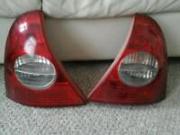 Renault clio rear lights 01-04 reg