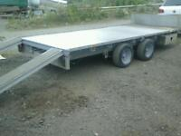 Ifor williams flat bed trailer 14x6.6 with ramps no vat
