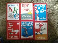 6 hard back books by dr seuss