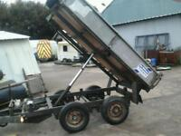 Ifor willams electric tipping trailer 8x5 ( have mesh sides extra ) no vat