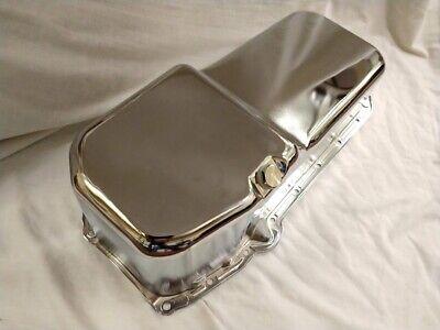 Chrome 1958-79 Chevy Oil Pan SBC 262 267 283 305 327 350 400 street rod 4QT Chevy Chrome Oil Pan