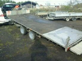 Ifor williams tiltbed car tranporter trailer 16x6.6 no vat