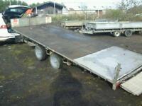 Ifor williams tiltbed car tranporter trailer 16x6.6 no vat