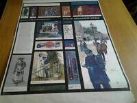 Set of seven posters History of Mail Transport. by Michael Heslop.