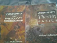 Two books Anatomy and Phyisology &Aromatherapy