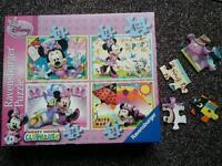 Disney Minnie Mouse jigsaws, 4 in a box