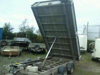 Ifor williams drop side electric tipping trailer 12x6.6 no vat