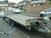 Ifor williams flat bed trailer with ramps and electric winch 16x6.6 no vat