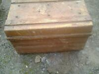 Steel trunk vintage collectable