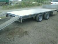 Ifor williams trailer 14x6.6 with ramps no vat