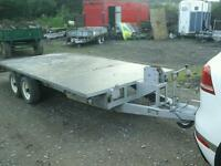 Beatson beaver tail trailer 16x6.6 with winch like ifor Williams no vat
