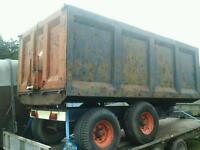 Wootton farm tipping trailer 12x6 no vat