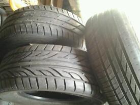 3 tyres all size 225 60 15 1 with 7mm tread and 2 with 5mm tread 15 pounds the lot