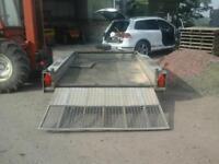 Ifor williams plant trailer 10x6 no vat