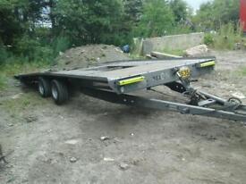 Brian james tilt bed trailer 16x6.6 with ramps no vat