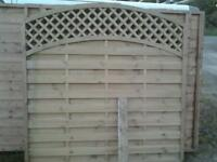 Arched fencing panels new