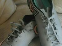 Nike CR 7 silver boots size 9