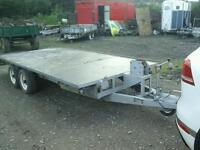 Beatson beaver car transport trailer with ramps and winch 17 x6.6 no vat