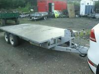 Beatson beaver tail trailer 16x5.6 like ifor Williams no vat