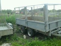 Ifor williams dropside trailer with mesh sides and ramps no vat
