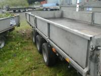 Ifor williams tri aixl trailer 16x6.6 with ramps no vat