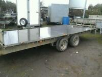 Ifor wiĺliams flat bed trailer with ramps 16x6.6 no vat