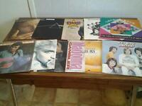Selection of vinyl ten in total.