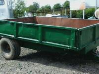 Farm tons tipping trailer 10x6 no vat