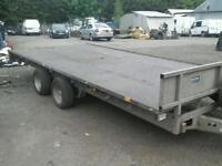 Ifor williams flat bed trailer 16x7.6 no vat