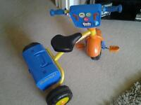 Bob the builder trike with sounds and box that opens for tools