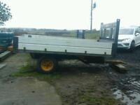 Farm tipping trailer 10x7 no vat