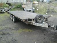 Ifor williams tri aixl trailer , 18x6.6 no vat