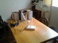 Large angel poise lamp with magnifying glass